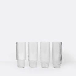 Ripple Long Drink Glasses (4 stk) - ferm LIVING