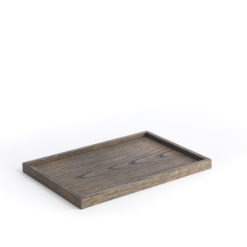 The Oak Men  - Square Tray medium dark oak