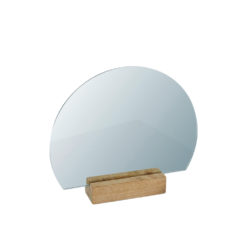 Half Moon Mirror Wood Normal - Kristina Dam Studio