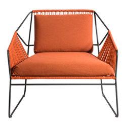 Sandur Club Chair Terrakotta-Antrasitt - Oasiq