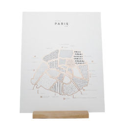 Paris Poster 41 x 52 - 42 Pressed