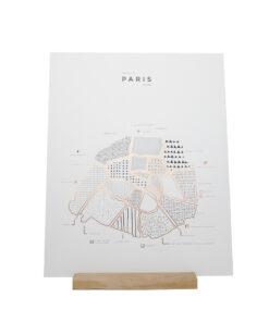 Paris Poster 41 x 52 - 42 Pressed