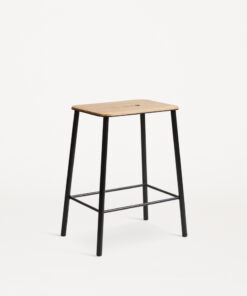 Adam Stool Oak / Matt Black H50 - FRAMA