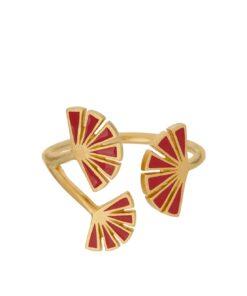 Flare Red Ring str 52  forgylt - Pernille Corydon