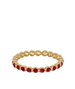 Pixel Red str 52 Ring forgylt - Pernille Corydon