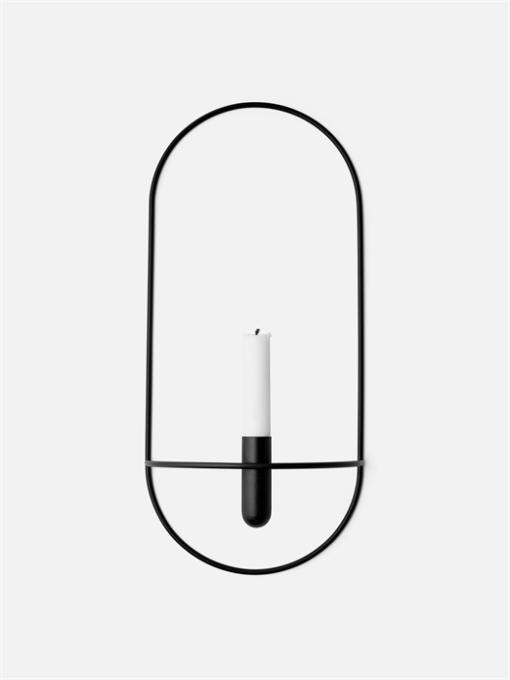 Menu POV Oval, Candleholder Black