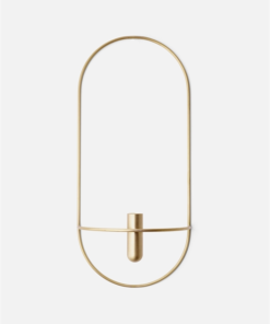 Menu POV Oval, Candleholder Brass