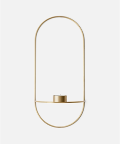 Menu POV Oval, Tealight Candleholder Brass