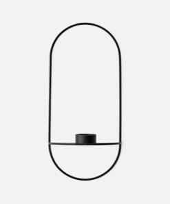 Menu POV Oval, Tealight Candleholder Black