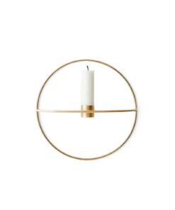 Menu POV Circle S, Candleholder Brass