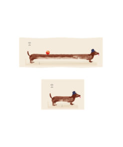 Doug The Dachshound A5 Card - Paper Collective