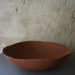 Red dish unique pieces small - Kajsa Cramer