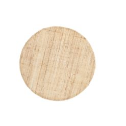Placemat Linen natural round - Dixie