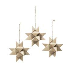 Star papirstjerne 3 pk - Broste